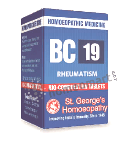 St. George's Biocombination 19 (BC19) tablets for Rheumatism