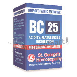 St. George's Biocombination 25 (BC25) tablets for acidity, flatulence & digestion
