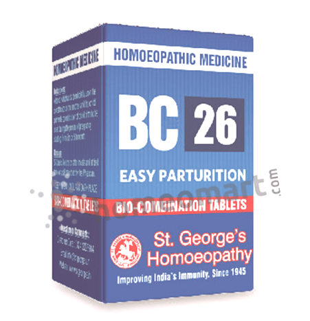 St. George's Biocombination 26 (BC26) tablets for easy parturition
