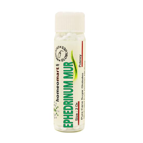 Ephedrinum Muriaticum Homeopathy 2 Dram Pellets 6C, 30C, 200C, 1M, 10M