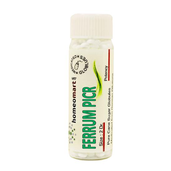 Ferrum Picrinicum Homeopathy 2 Dram Pellets 6C, 30C, 200C, 1M, 10M