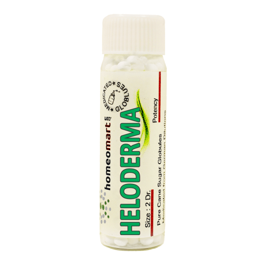 Heloderma Homeopathy 2 Dram Pellets 6C, 30C, 200C, 1M, 10M