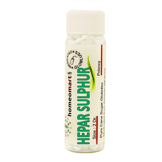 Hepar Sulphuris Kalinum Homeopathy 2 Dram Pellets 6C, 30C, 200C, 1M, 10M