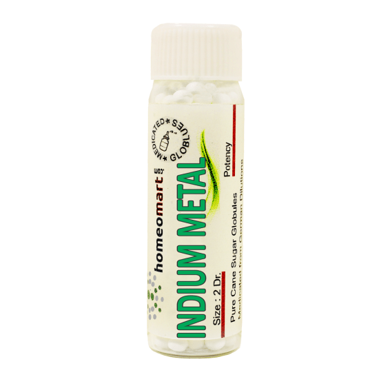 Indium Metallicum Homeopathy 2 Dram Pellets 6C, 30C, 200C, 1M, 10M