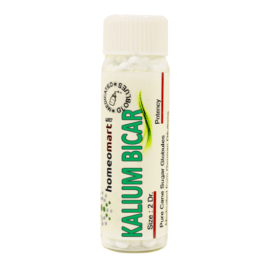 Kalium Bicarbonicum Homeopathy 2 Dram Pellets 6C, 30C, 200C, 1M, 10M