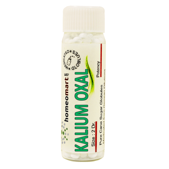 Kalium Oxalicum Homeopathy 2 Dram Pellets 6C, 30C, 200C, 1M, 10M