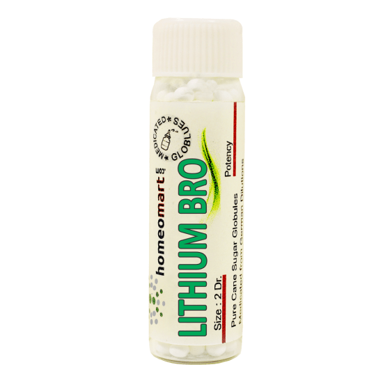 Lithium Bromatum Homeopathy 2 Dram Pellets 6C, 30C, 200C, 1M, 10M