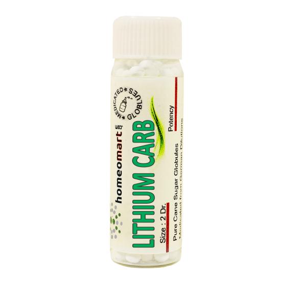 Lithium Carbonicum Homeopathy 2 Dram Pellets 6C, 30C, 200C, 1M, 10M