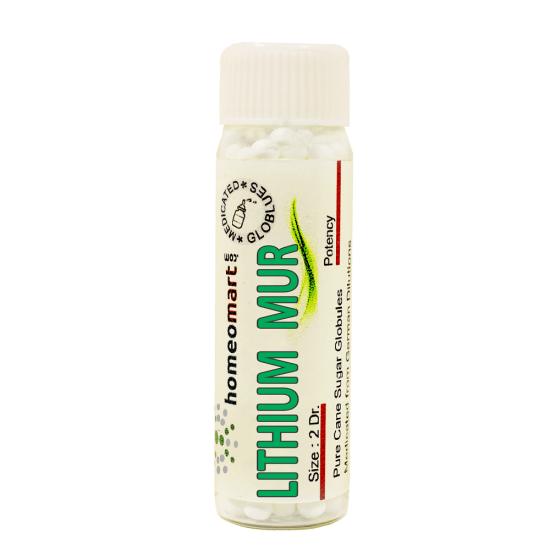 Lithium Muriaticum Homeopathy 2 Dram Pellets 6C, 30C, 200C, 1M, 10M