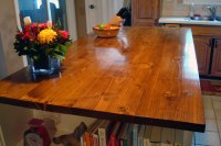 How to stain and waterproof a wood countertop | Home on ...