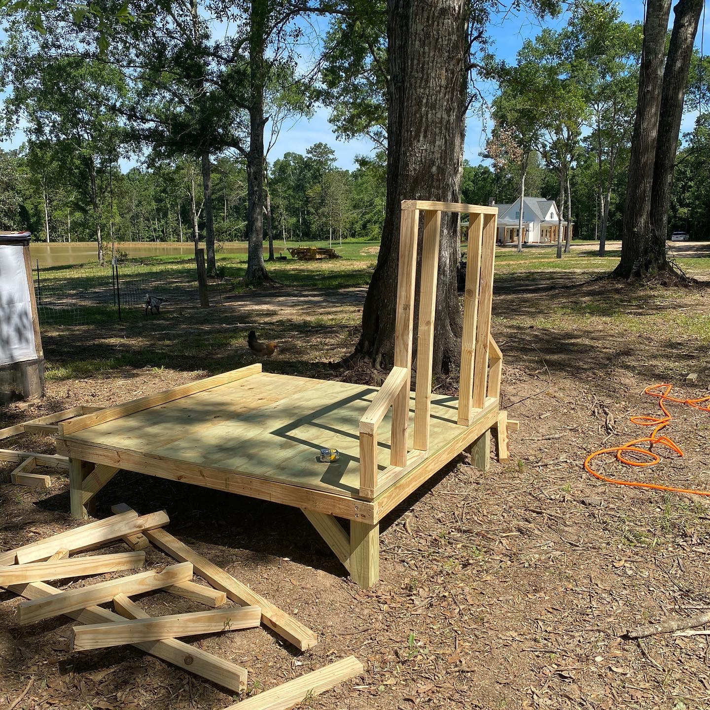 DIY Farmhouse Chicken Coop Front Wall Frame