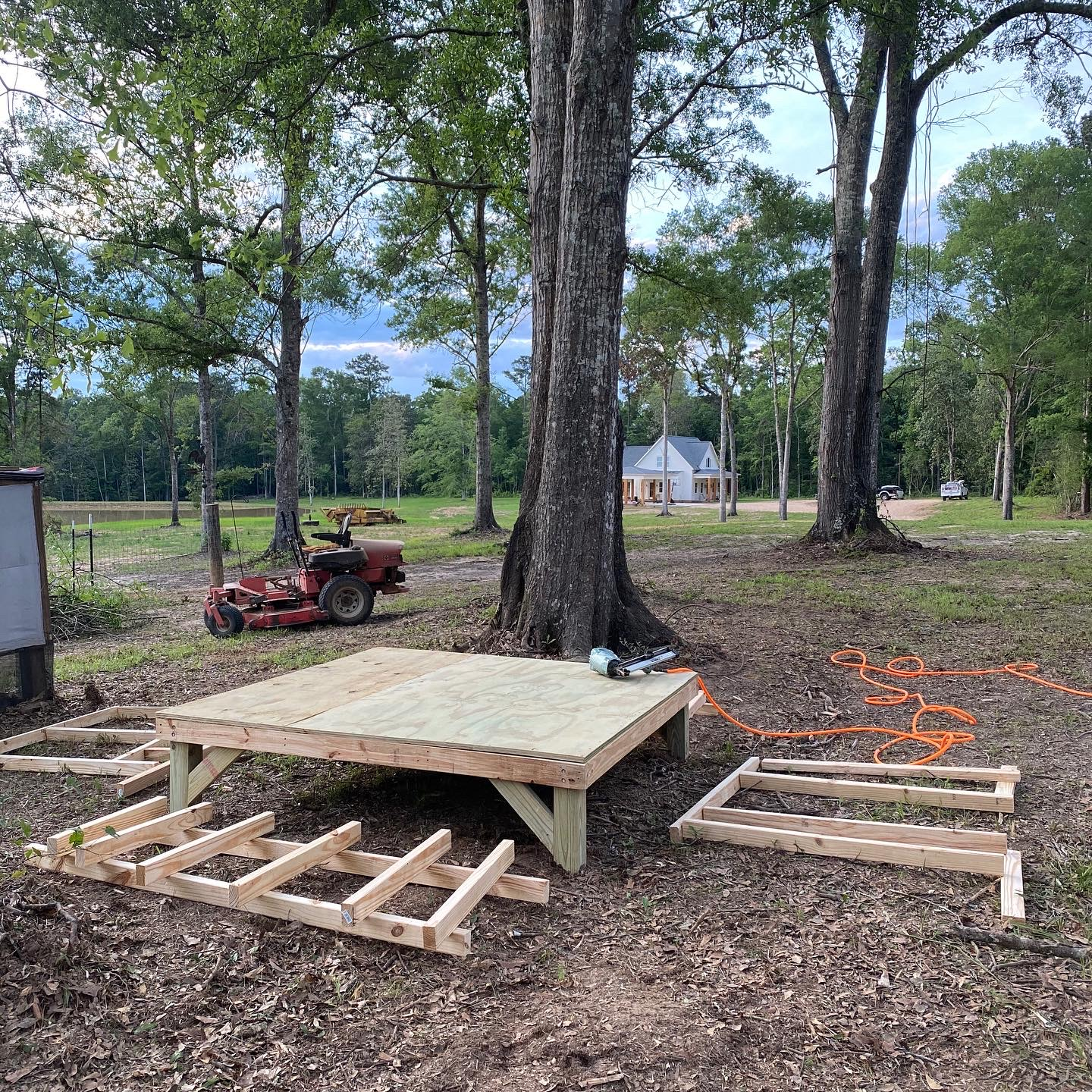 DIY Farmhouse Chicken Coop Wall Frame Layout