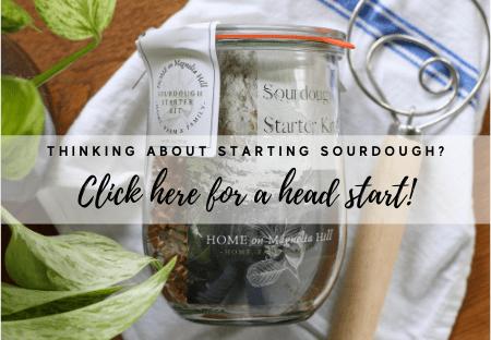 Home on Magnolia Hill Sourdough Starter Kit Weck Jar