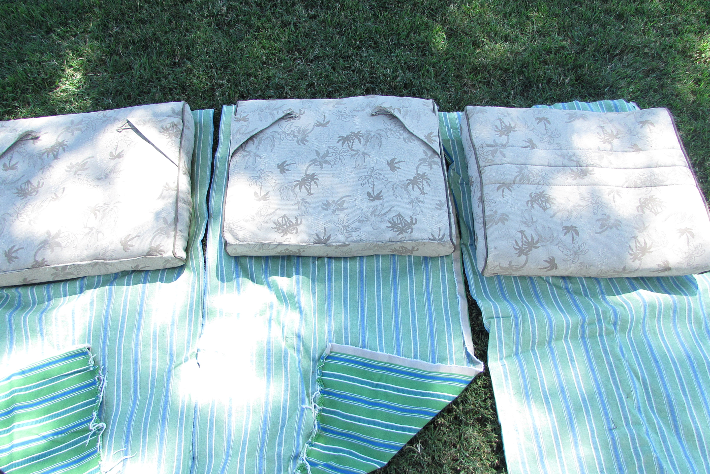 recovering lawn chairs plastic patio table and my outdoor swing cushions i cheated a little