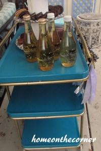 Fabulous Vintage Beverage Cart Makeover  HOME ON THE CORNER