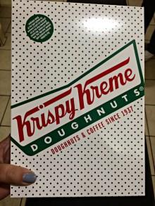 Krispy Kreme Donut Box