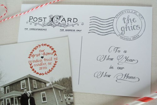 holiday moving new house postcard photo