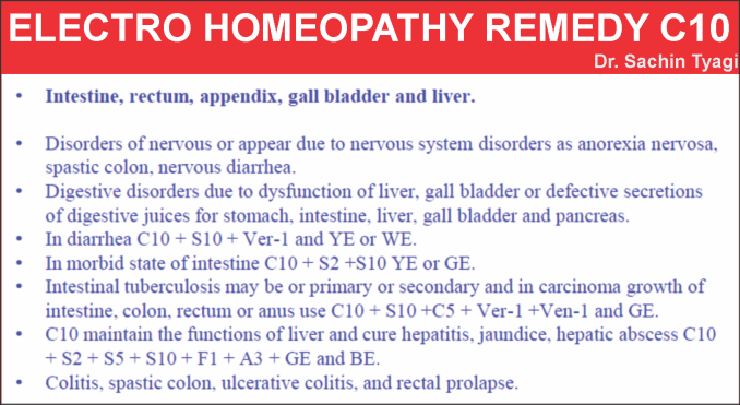 Electro Homeopathic Remedy C10