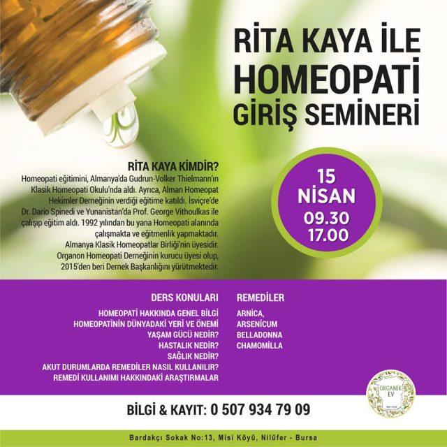 bursa rita kaya ile homeopati