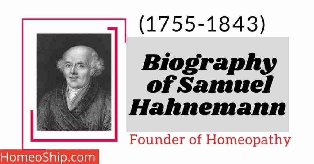 Biography of Samuel Hahnemann