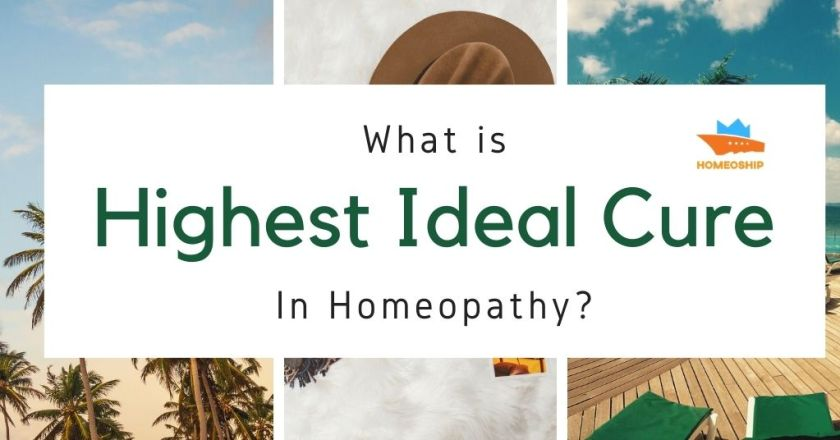 What is the highest ideal cure in homeopathy?