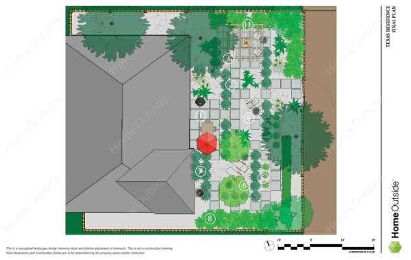 Home-outside-landscape-design-partial-property-design-drought-tolerant-backyard-Midland-Texas-final