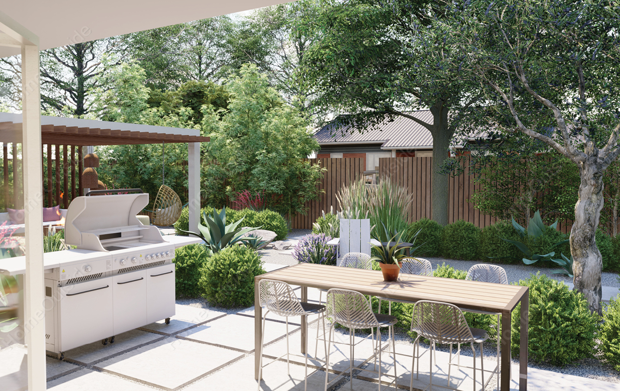 home-outside-landscape-design-Midland-TX-3d-view-dining-area