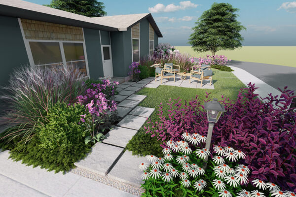 Home-outside-landscape-design-Idaho-3D-Views-front-yard-design-entry