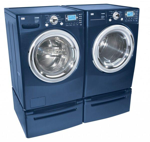 Blue Washing Machine and Dryer