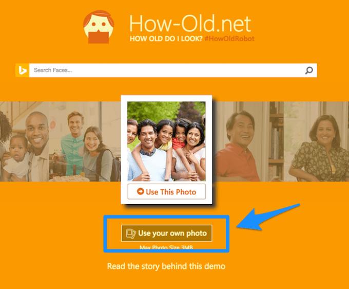 How−Old.netに写真をアップロード
