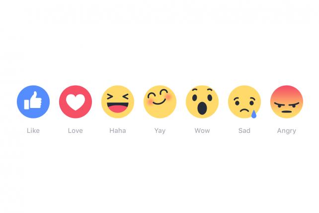 「いいね」以外の感情も伝えられる「Reactions」