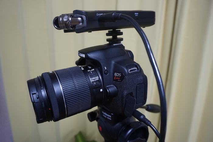 Canon EOS Kiss X7iとDR−07MKⅡをつなぐケーブルについて