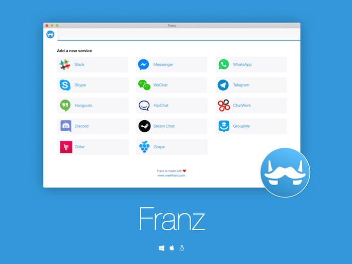 チャットワークもFacebookメッセージも1つのアプリで管理できる「Franz」がヤバイ!