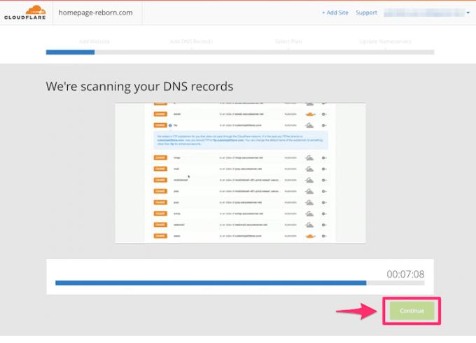 CloudflareでDNSレコードのスキャンをする