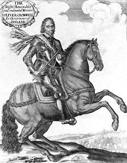 Woodcut: Cromwell as