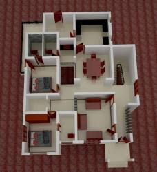 3d kerala plan budget low square feet bedroom modern contemporary print tips
