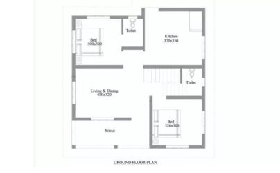 sq 750 plan ft budget low square floor simple 2bhk feet single cute 1000 area