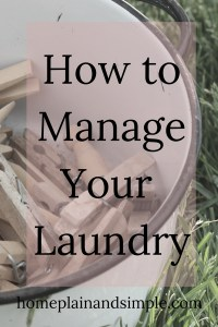 How To Manage Your Laundry