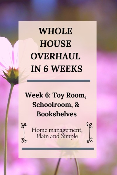 Whole House Overhaul in 6 Weeks: Week 6. Toy Room, Schoolroom, Bookshelves