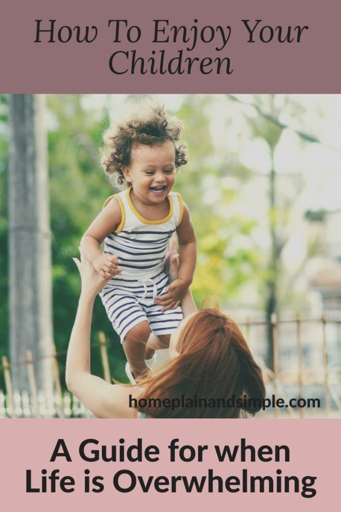 How to Enjoy Your Children: A Guide for when life is overwhelming