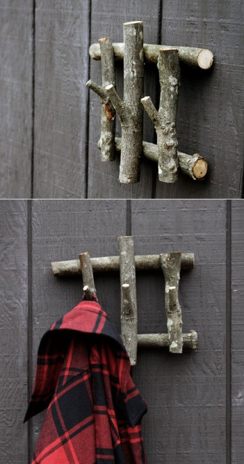 Hooks From Cut Tree Branches – Do-It-Yourself