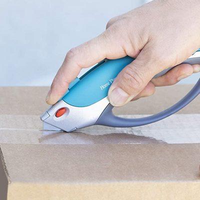 Cutter cutting the box - square picture