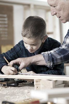 Grandfather-and-son-carpentry