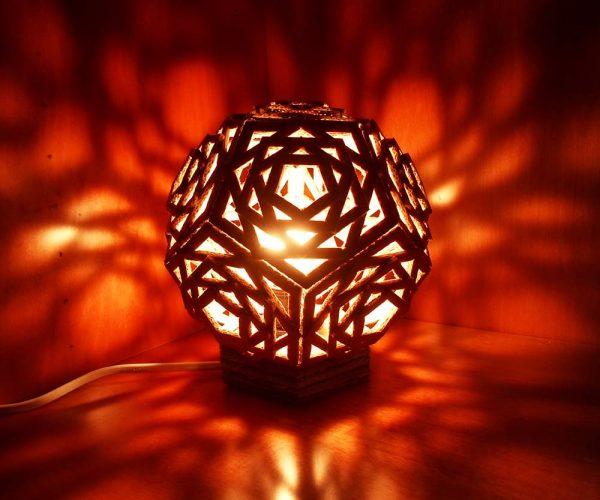 cardboard night lamp shade by lindarose92