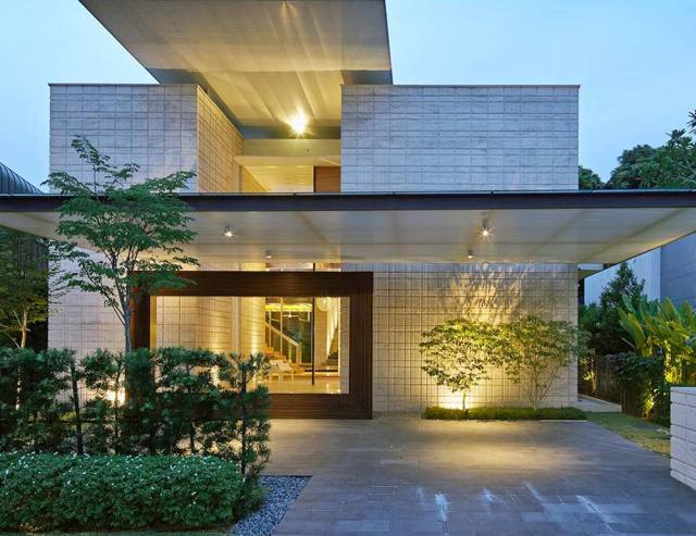 stunning homes zen courtyard singapore