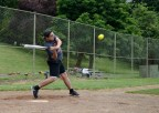 PORTLAND, Ore. (June 11, 2017) – Interior Communications Electrician 2nd Class Gerardo Zavala, a native of Dallas, assigned to the submarine tender USS Frank Cable (AS 40), takes his turn hitting during a softball game against Sailors from the guided-missile cruiser USS Bunker Hill (CG 52), June 11. The Sailors are in Portland to take part in Portland Fleet Week and Rose Festival. The festival and Portland Fleet Week are a celebration of the sea services with Sailors, Marines and Coast Guard members from the U.S. and Canada making the city a port of call. (U.S. Navy photo by Mass Communication Specialist 3rd Class Josh Coté/Released)