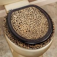 cheetah bathroom set - Toilet Seat | Home Interiors