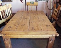 Western Rustic Dining Table   Home Interiors