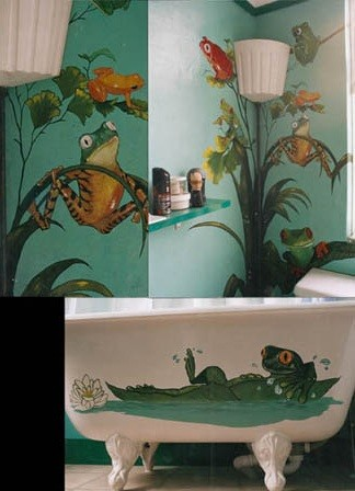 fun frog bath item  Home Interiors