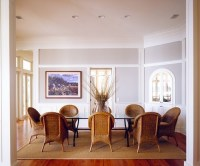 seagrass dining room chairs in neoclassical dining room ...